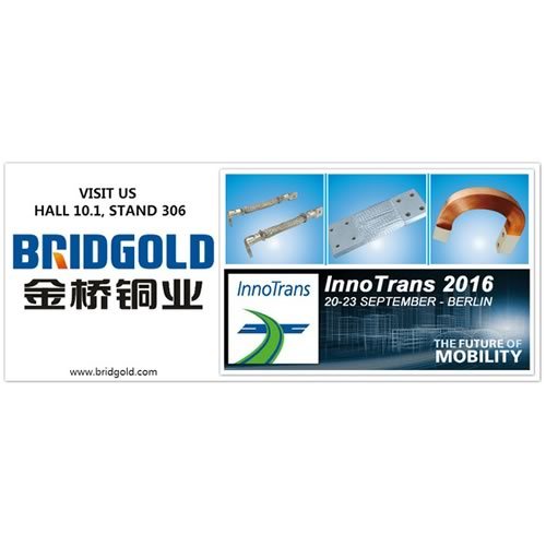 Bridgold will be in the InnoTrans 2016