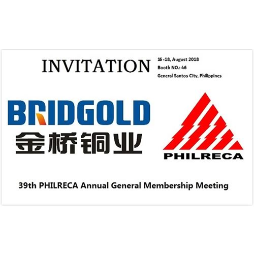 BRIDGOLD Exhibition in Philippines 16-18 August 2018