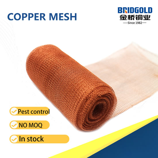 Factory Knitted Copper Mesh for Pest Control Fence in Stock